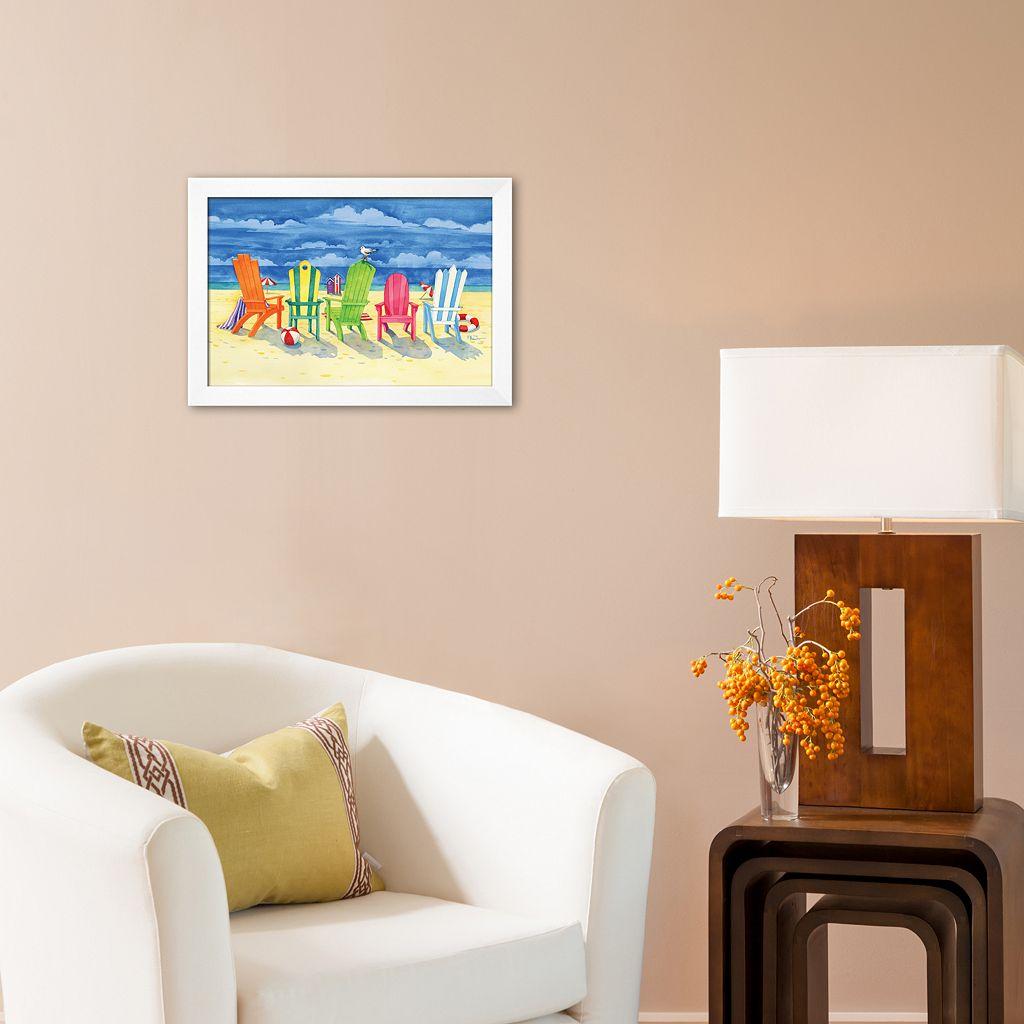 Art.com Brighton Chairs Framed Art Print by Paul Brent