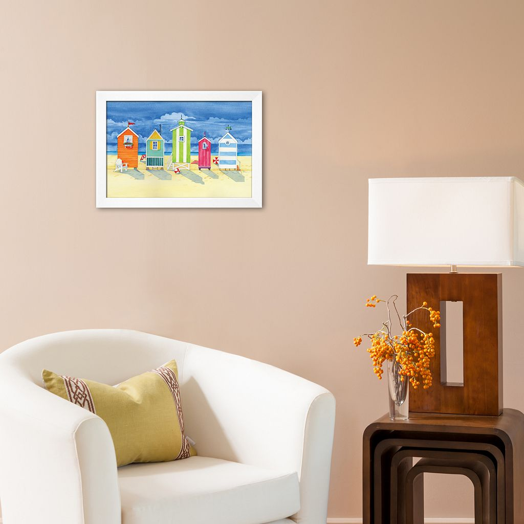 Art.com Brighton Huts Framed Art Print by Paul Brent