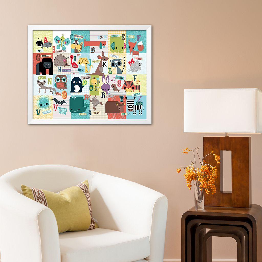 Art.com Animal ABC Framed Art Print by Jillian Phillips