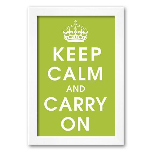 Art.com Keep Calm (kiwi) Framed Art Print