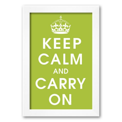 Art.com Keep Calm (kiwi) Framed Art Print