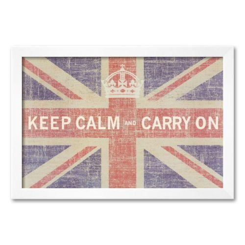 Art.com Keep Calm and Carry On (Union Jack) Framed Art Print by Ben James
