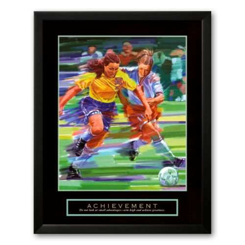 Art.com Achievement: Soccer Framed Art Prin