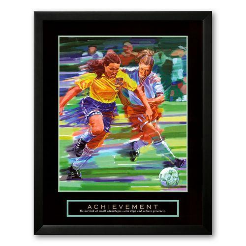 Art.com Achievement: Soccer Framed Art Prin