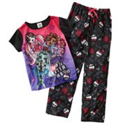 Monster High Sketchy Pajama Set - Girls