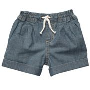 Carter's Chambray Denim Shorts - Toddler