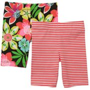 Carter's 2-pk. Floral and Striped Bike Shorts - Toddler