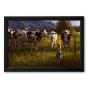 Art.com Anniken and the Cows Framed Art Print by Robert Duncan