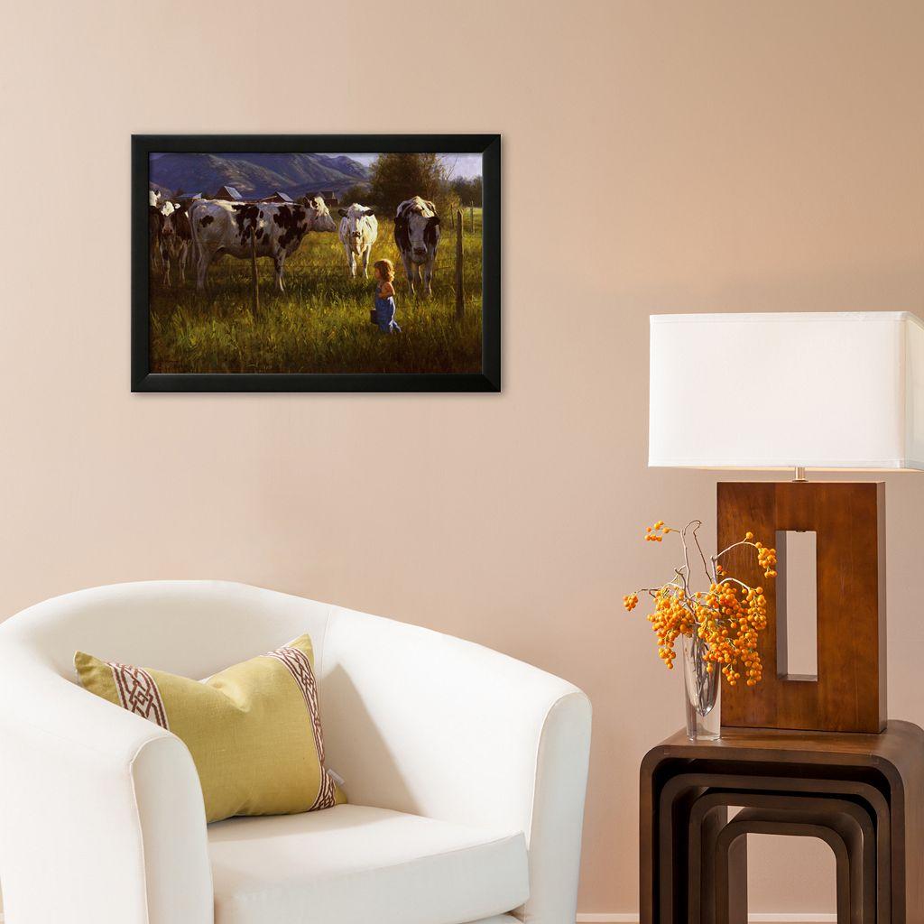 Art.com Anniken and the Cows Framed Art Print by Robert Duncan