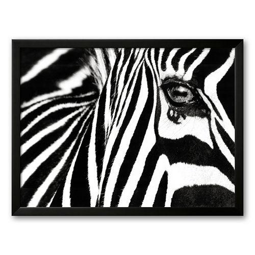 "Art.com ""Black and White II (Zebra)"" Framed Art Print By Rocco Sette"