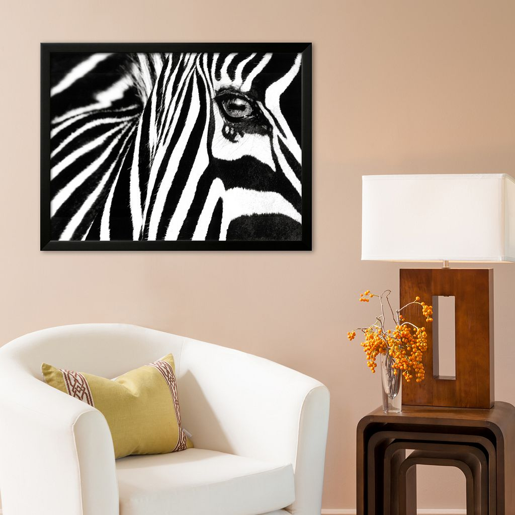 Art.com Black and White II (Zebra) Framed Art Print By Rocco Sette