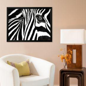Art.com Black and White II (Zebra) Framed Art Print By Rocco Sette