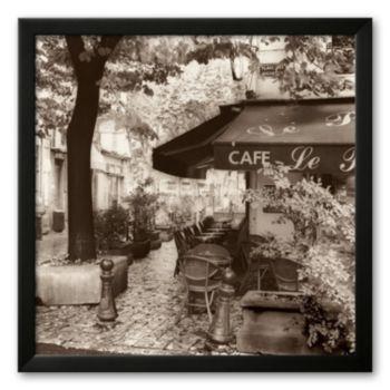 Art.com Cafe, Aix-en-Provence Framed Art Print by Alan Blaustein