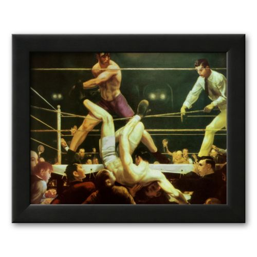 Art.com Dempsey and Firpo, 1924 Framed Art Print by George Wesley Bellows