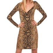 Kamalikulture Animal Faux-Wrap Dress