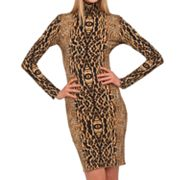 Kamalikulture Animal Turtleneck Sheath Dress