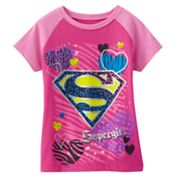 Supergirl Cheetah Tee - Girls 4-6x