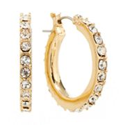 Jennifer Lopez Simulated Crystal Hoop Earrings