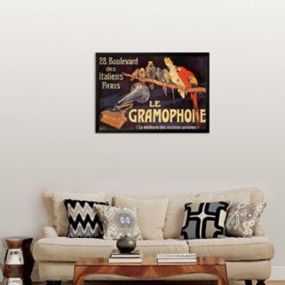 Art.com Gramophone Framed Art Print by Charles Bombled