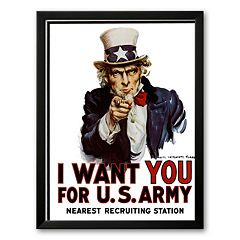 Art.com ''I Want You for the U.S. Army, c. 1917'' Framed Art Print by James Montgomery Flag