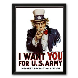 Art.com I Want You for the U.S. Army, c. 1917 Framed Art Print by James Montgomery Flag