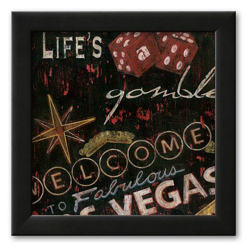 Art.com Life's a Gamble Framed Art Print by Eugene Tava