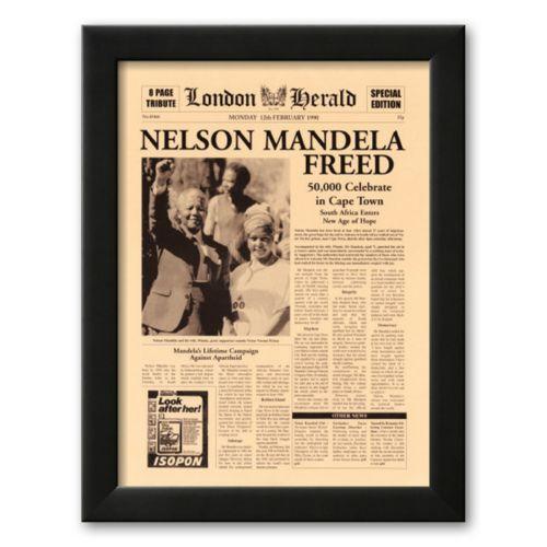 Art.com Nelson Mandela Freed Framed Art Print