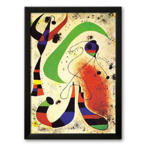 Art.com Night Framed Art Print by Joan Miró