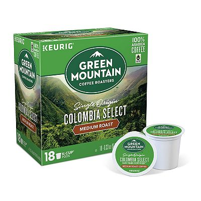 Keurig K-Cup Portion Pack Green Mountain Coffee Colombian Fair Trade Select Coffee - 18-pk.