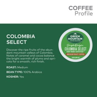 Keurig® K-Cup® Pod Green Mountain Coffee Colombian Fair Trade Select Medium Roast Coffee - 18-pk.