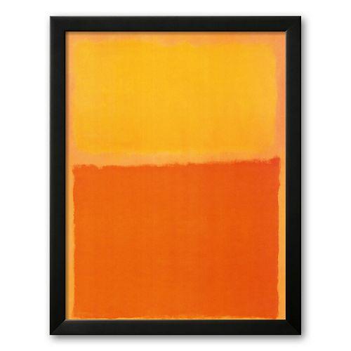 Art.com Orange and Yellow 6.375 x 20.875 Framed Art Print by Mark Rothko