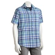 SONOMA life + style 2-in-1 Plaid Casual Button-Front Shirt - Big and Tall