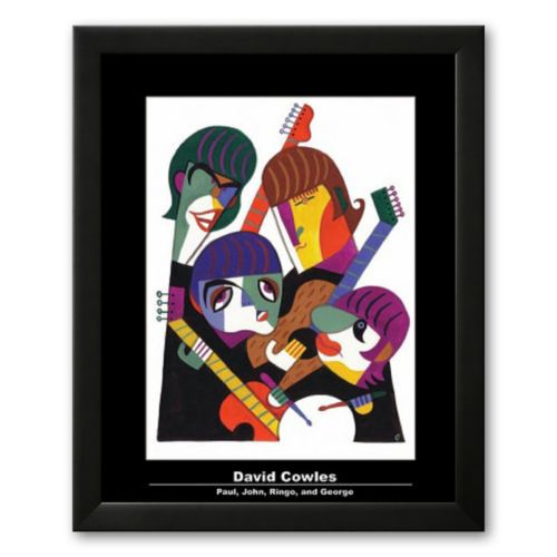 Art.com Paul, John, Ringo, and George Framed Art Print by David Cowles