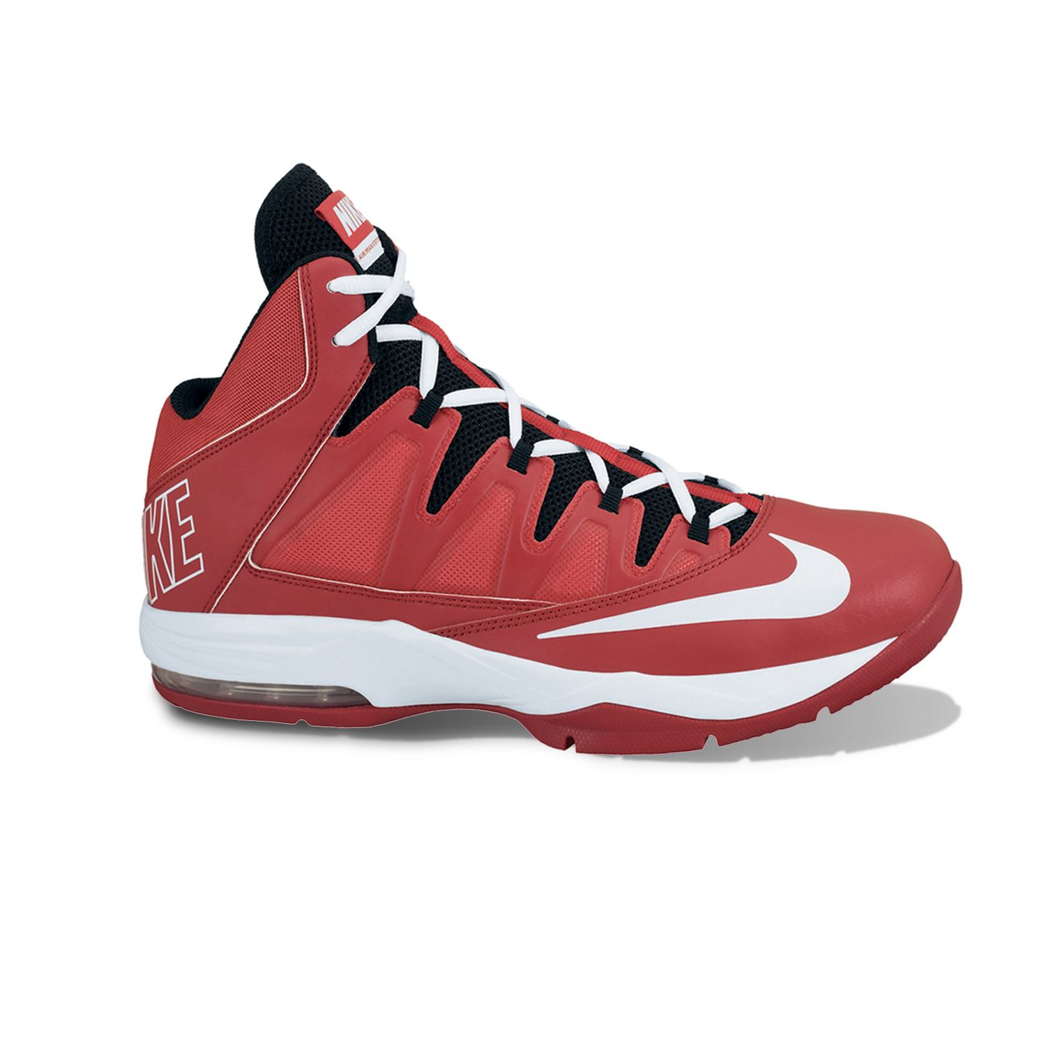 Nike Red Air Max Stutter Step High-Performance Basketball Shoes - Men