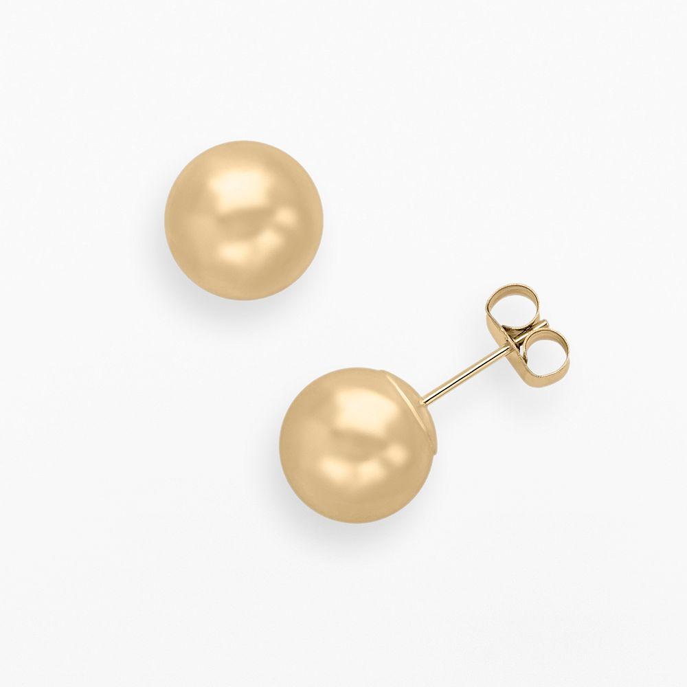 Everlasting Gold 10k Gold Ball Stud Earrings