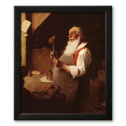 Art.com Santa's Workshop Framed Art Print by Norman Rockwell