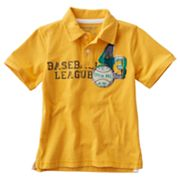 SONOMA life + style Baseball League Polo - Boys 4-7x