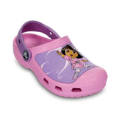 9f87e8716bbc Crocs Dora the Explorer Ballerina Clogs - Girls