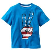 Jumping Beans Patriotic Peace Sign Tee - Toddler