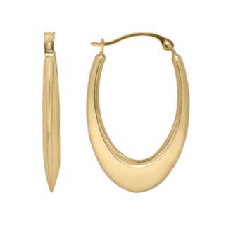 Everlasting Gold 10k Gold U-Hoop Earrings