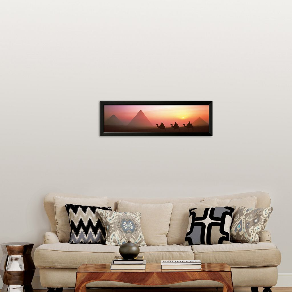 Art.com The Great Pyramids of Giza, Egypt Framed Art Print by Shashin Koubou