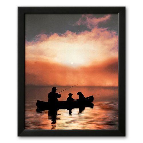 Art.com Values: Fishing Framed Art Print