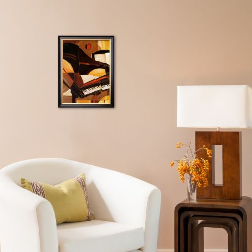 Art.com Abstract Piano Framed Art Print by Paul Brent