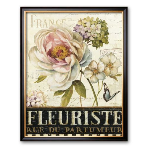 "Art.com ""Marche de Fleurs III"" Large Framed Art Print by Lisa Audit"