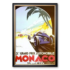 Art.com '5th Grand Prix Automobile, Monaco, 1933' Framed Art Print by Geo Ham