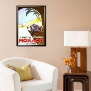Art.com 5th Grand Prix Automobile, Monaco, 1933 Framed Art Print by Geo Ham