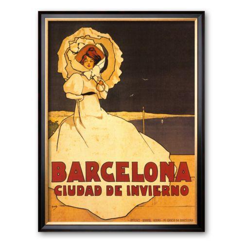 Art.com Barcelona Framed Art Print by Frederick Daniel Hardy