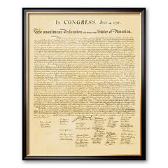 Art.com 'Declaration of Independence' Framed Art Print