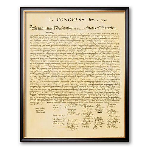 """Art.com """"Declaration of Independence"""" Framed Art Print"""
