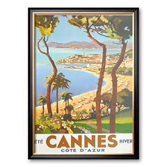 Art.com 'Ete Cannes Hiver' Framed Art Print by Peri